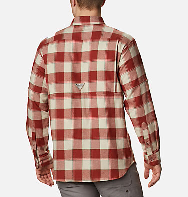 Men's PHG Sharptail™ Flannel - Big Sharptail™ Flannel | 914 | 4X, Red Oxide Chunky Plaid, back