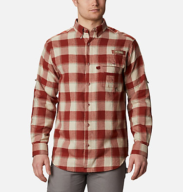 Men's PHG Sharptail™ Flannel - Big Sharptail™ Flannel | 914 | 4X, Red Oxide Chunky Plaid, front