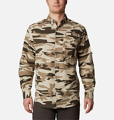 Men's PHG Sharptail™ Flannel - Tall Sharptail™ Flannel | 914 | XLT, Snow Gallatin Camo, front