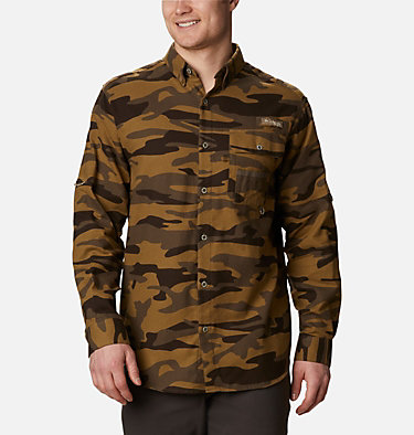 Men's PHG Sharptail™ Flannel - Tall Sharptail™ Flannel | 914 | XLT, Brown Gallatin Camo, front