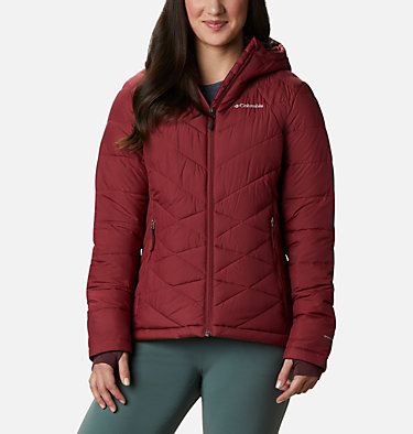 Women's Heavenly™ Hooded Jacket Heavenly™ Hdd Jacket | 604 | S, Marsala Red, front
