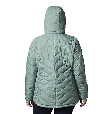 Women's Heavenly™ Hooded Jacket - Plus Size Heavenly™ Hdd Jacket | 870 | 1X, Light Lichen, back