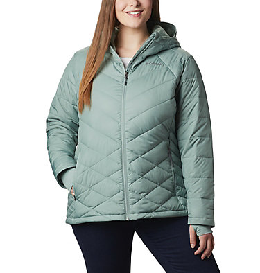 Women's Heavenly™ Hooded Jacket - Plus Size Heavenly™ Hdd Jacket | 870 | 1X, Light Lichen, front