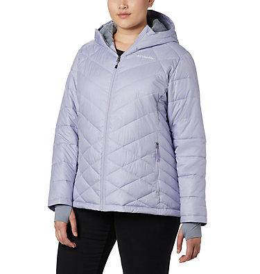 Women's Heavenly™ Hooded Jacket - Plus Size Heavenly™ Hdd Jacket | 870 | 1X, Twilight Diamonds Emboss, front