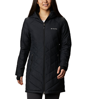 Women's Heavenly™ Long Hooded Jacket Heavenly™ Long Hdd Jacket | 671 | XL, Black, front