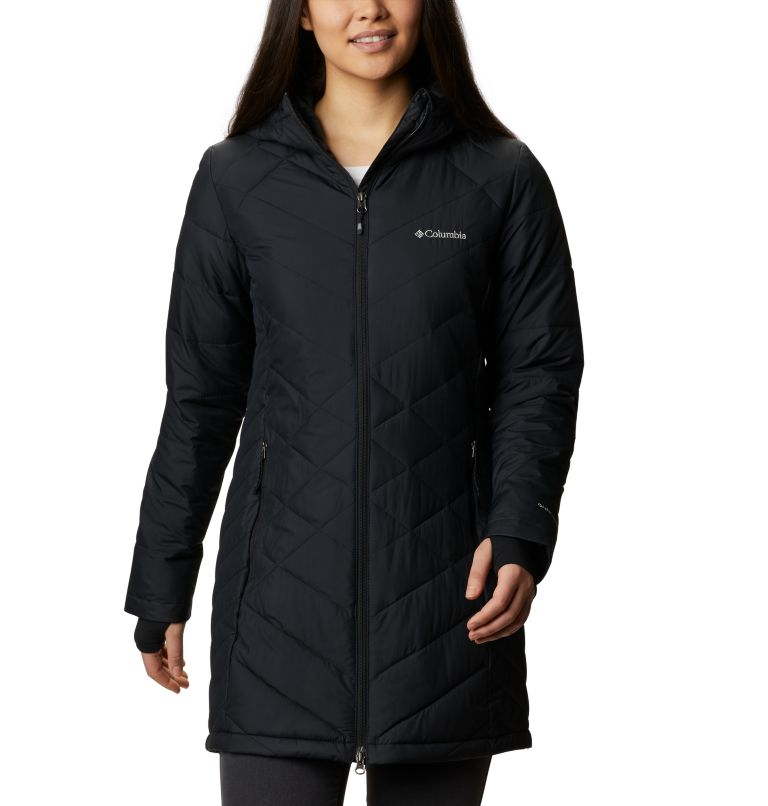 Heavenly™ Long Hdd Jacket | 010 | S Women's Heavenly™ Long Hooded Jacket, Black, front