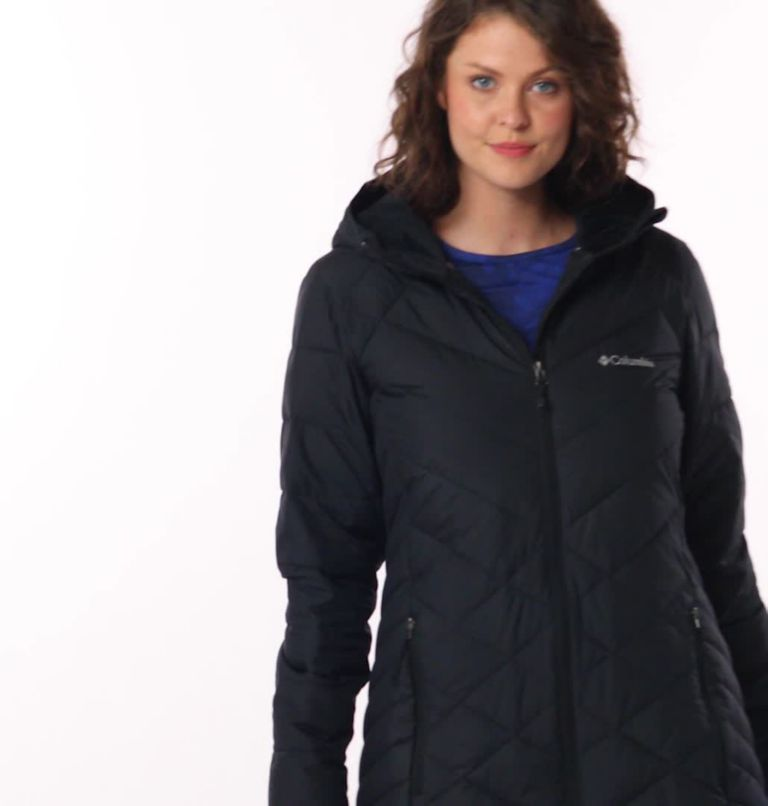 Heavenly™ Long Hdd Jacket | 010 | M Women's Heavenly™ Long Hooded Jacket, Black, video