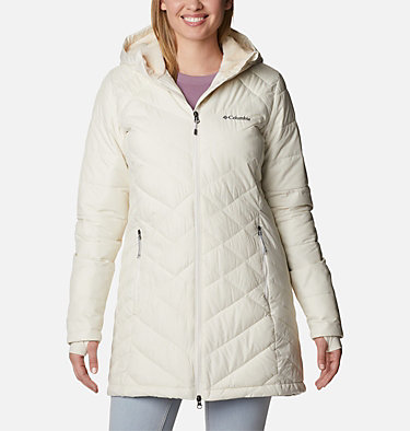 Women's Heavenly™ Long Hooded Jacket Heavenly™ Long Hdd Jacket | 671 | XS, Chalk, front