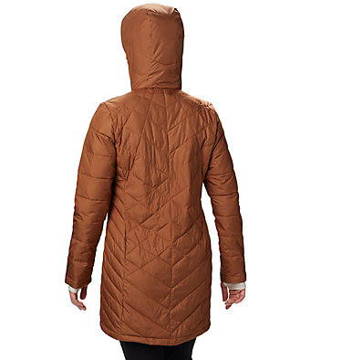 Women's Heavenly™ Long Hooded Jacket Heavenly™ Long Hdd Jacket | 671 | XL, Camel Brown, back