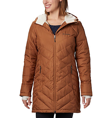 Women's Heavenly™ Long Hooded Jacket Heavenly™ Long Hdd Jacket | 671 | XL, Camel Brown, front