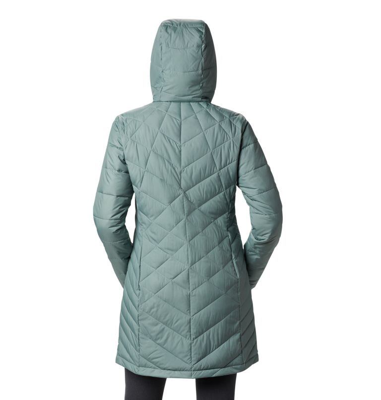 Heavenly™ Long Hdd Jacket   305   XXL Women's Heavenly™ Long Hooded Jacket, Light Lichen, back