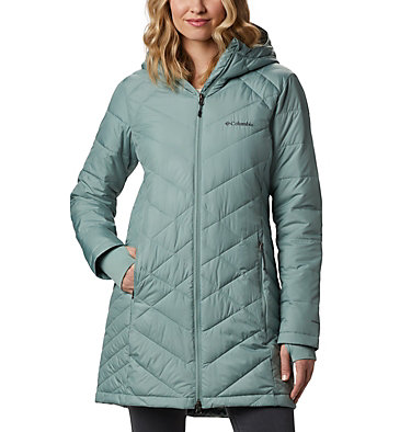 Women's Heavenly™ Long Hooded Jacket Heavenly™ Long Hdd Jacket | 671 | XL, Light Lichen, front