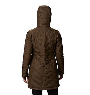 Women's Heavenly™ Long Hooded Jacket Heavenly™ Long Hdd Jacket | 671 | XS, Olive Green, back