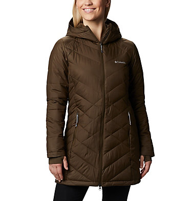 Women's Heavenly™ Long Hooded Jacket Heavenly™ Long Hdd Jacket | 671 | XL, Olive Green, front