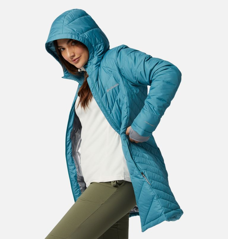 Heavenly™ Long Hdd Jacket | 430 | XXL Women's Heavenly™ Long Hooded Jacket, Canyon Blue, a1