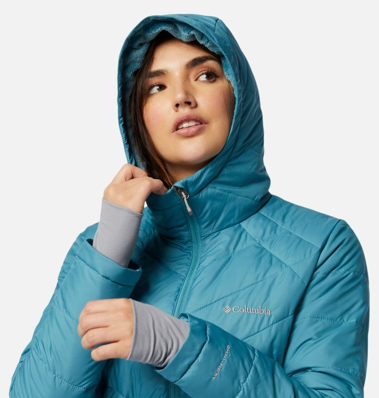 Heavenly™ Long Hdd Jacket | 430 | M Women's Heavenly™ Long Hooded Jacket, Canyon Blue, a2