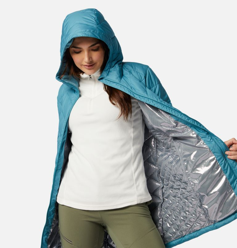 Heavenly™ Long Hdd Jacket | 430 | M Women's Heavenly™ Long Hooded Jacket, Canyon Blue, a3