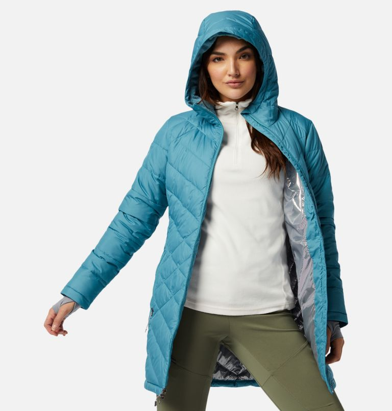Heavenly™ Long Hdd Jacket | 430 | M Women's Heavenly™ Long Hooded Jacket, Canyon Blue, a4