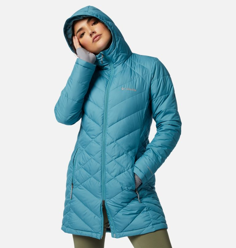 Heavenly™ Long Hdd Jacket | 430 | M Women's Heavenly™ Long Hooded Jacket, Canyon Blue, front