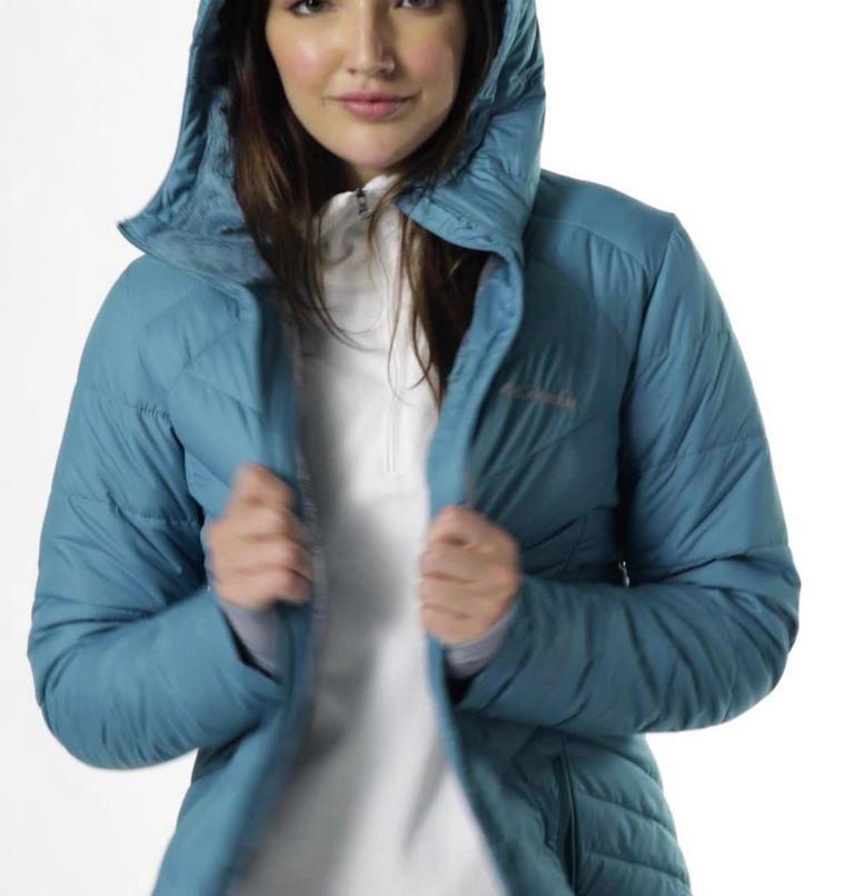 Heavenly™ Long Hdd Jacket | 430 | XXL Women's Heavenly™ Long Hooded Jacket, Canyon Blue, video