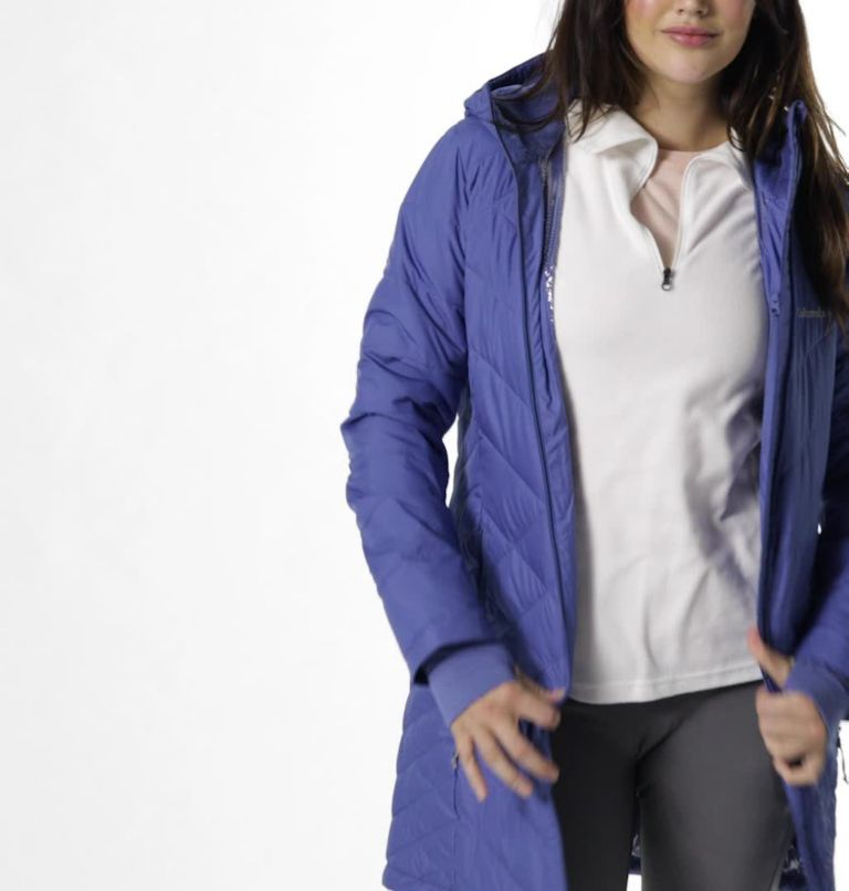 Heavenly™ Long Hdd Jacket | 458 | M Women's Heavenly™ Long Hooded Jacket, Velvet Cove, video