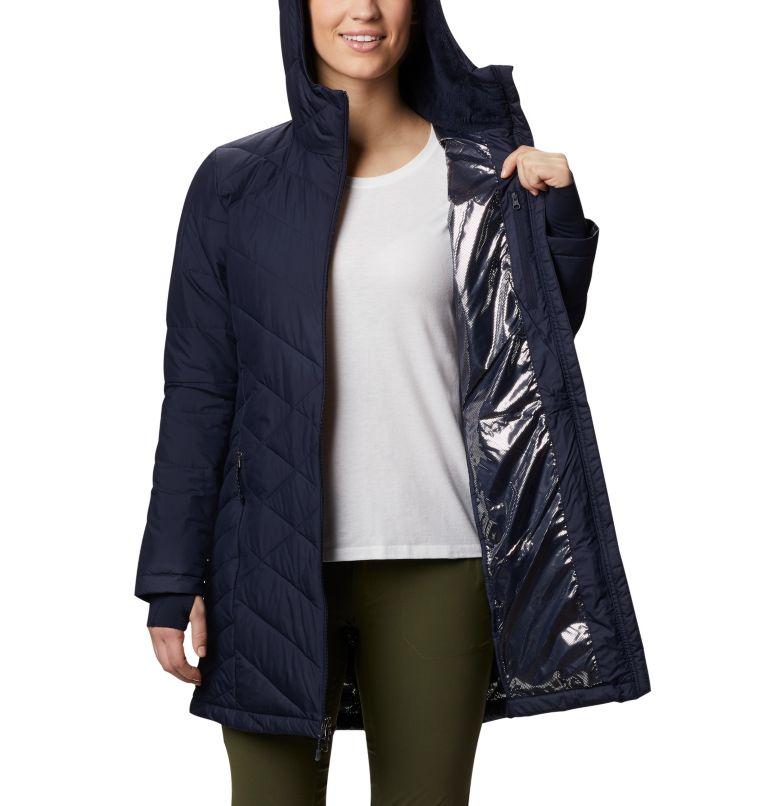 Heavenly™ Long Hdd Jacket | 472 | XS Women's Heavenly™ Long Hooded Jacket, Dark Nocturnal, a3