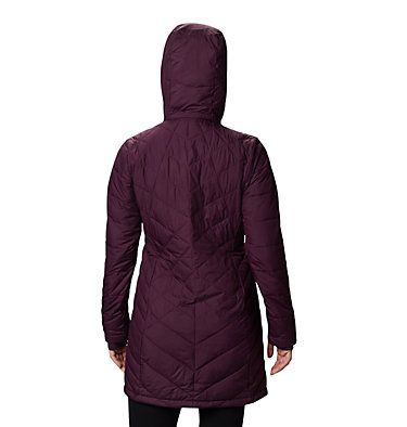 Women's Heavenly™ Long Hooded Jacket Heavenly™ Long Hdd Jacket | 671 | XL, Black Cherry, back