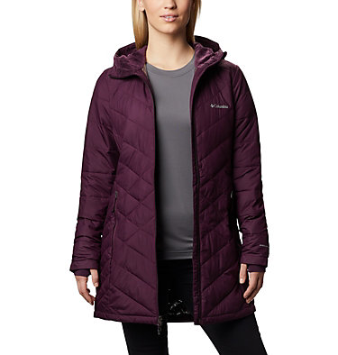 Women's Heavenly™ Long Hooded Jacket Heavenly™ Long Hdd Jacket | 671 | XL, Black Cherry, front