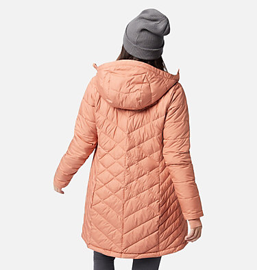 Women's Heavenly™ Long Hooded Jacket Heavenly™ Long Hdd Jacket | 671 | XS, Nova Pink, back