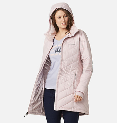Women's Heavenly™ Long Hooded Jacket Heavenly™ Long Hdd Jacket | 671 | XL, Mineral Pink, front