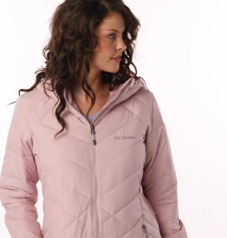 Heavenly™ Long Hdd Jacket | 618 | XS Women's Heavenly™ Long Hooded Jacket, Mineral Pink, video