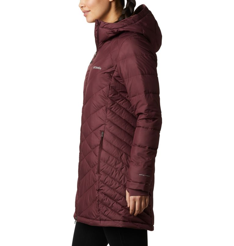 Heavenly™ Long Hdd Jacket | 671 | XS Women's Heavenly™ Long Hooded Jacket, Malbec, a1