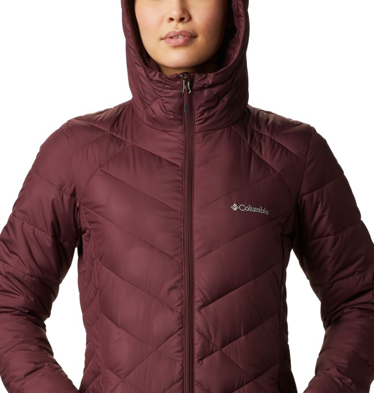 Heavenly™ Long Hdd Jacket | 671 | XS Women's Heavenly™ Long Hooded Jacket, Malbec, a2
