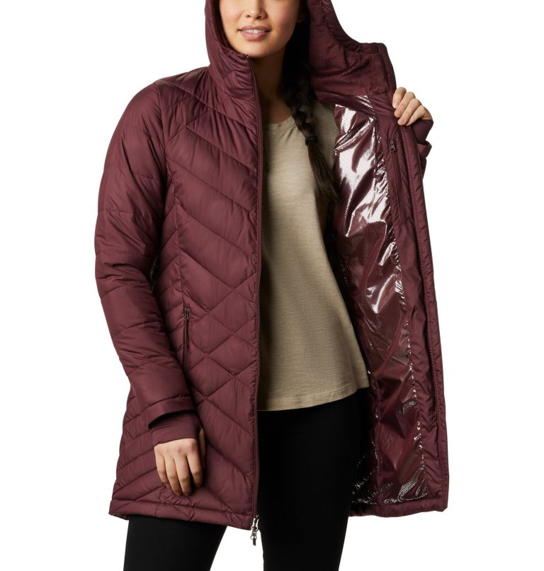 Heavenly™ Long Hdd Jacket | 671 | XS Women's Heavenly™ Long Hooded Jacket, Malbec, a4