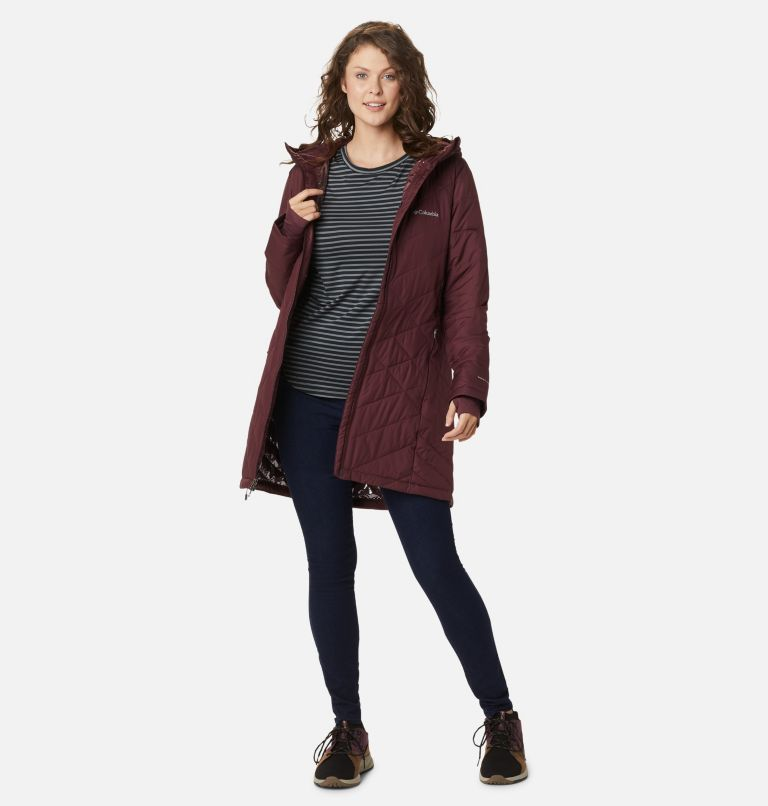 Heavenly™ Long Hdd Jacket | 671 | XS Women's Heavenly™ Long Hooded Jacket, Malbec, a5