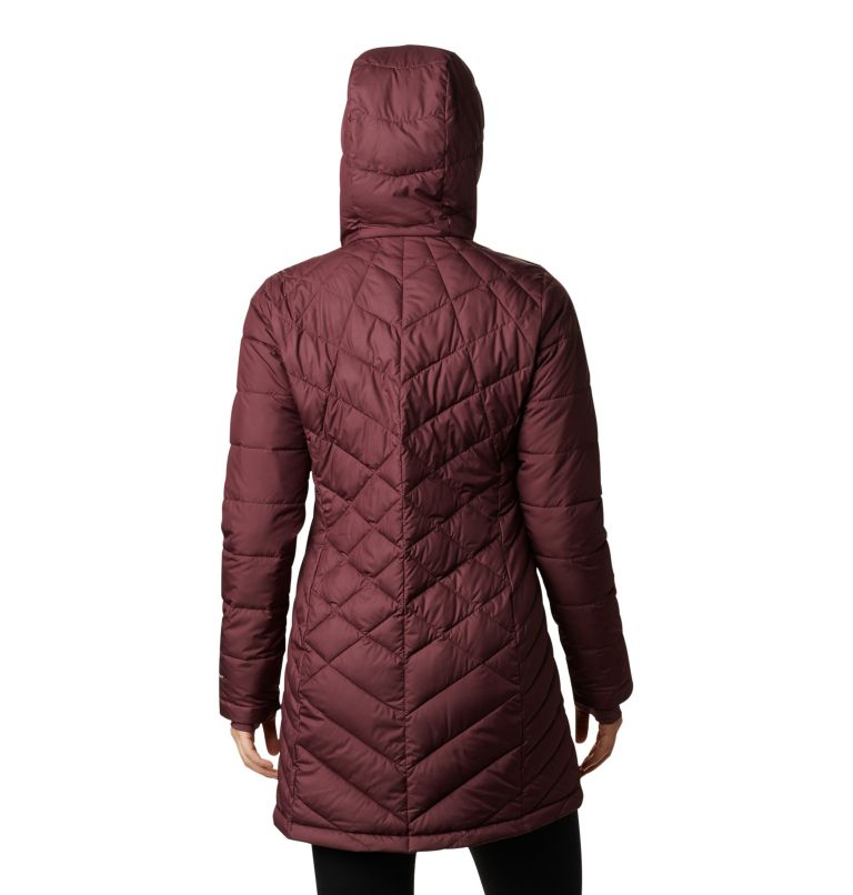 Heavenly™ Long Hdd Jacket | 671 | S Women's Heavenly™ Long Hooded Jacket, Malbec, back