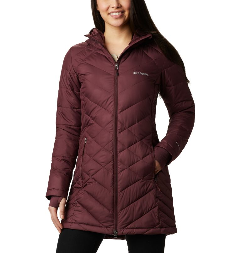 Heavenly™ Long Hdd Jacket | 671 | XS Women's Heavenly™ Long Hooded Jacket, Malbec, front