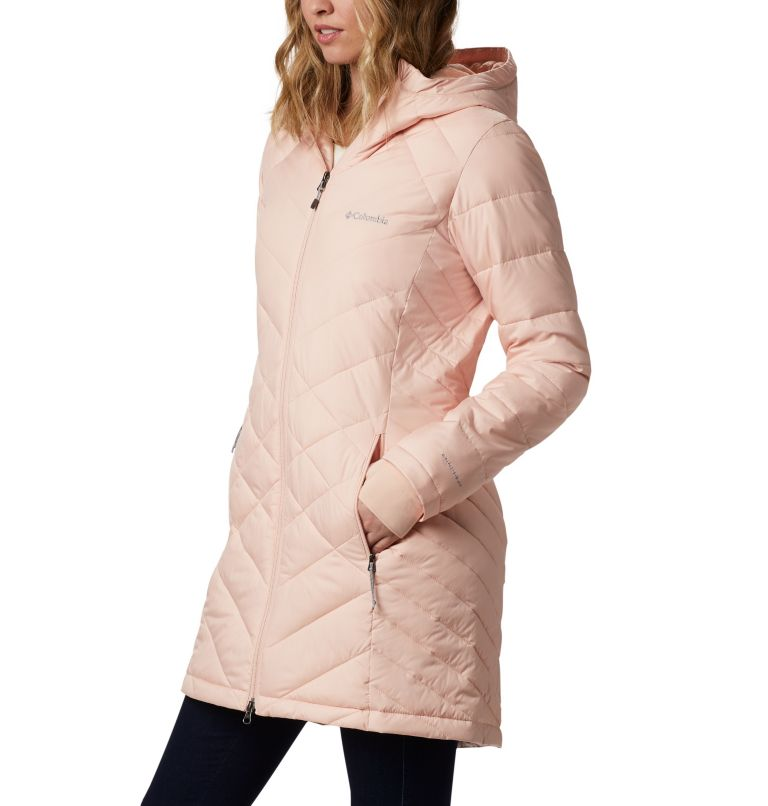Heavenly™ Long Hdd Jacket | 870 | S Women's Heavenly™ Long Hooded Jacket, Peach Cloud, a1