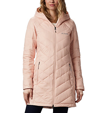 Women's Heavenly™ Long Hooded Jacket Heavenly™ Long Hdd Jacket | 671 | XL, Peach Cloud, front