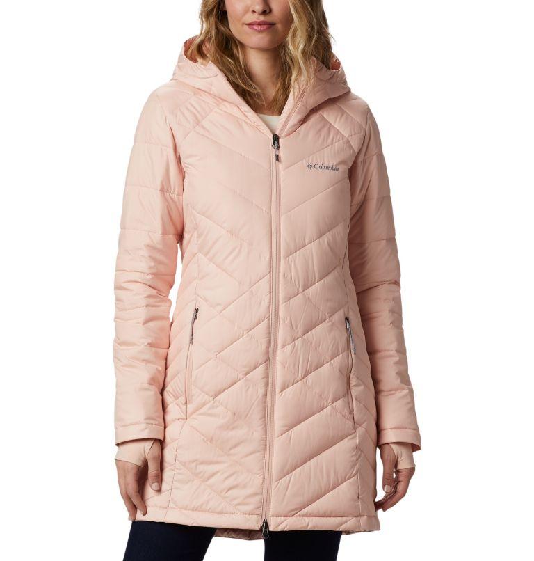 Heavenly™ Long Hdd Jacket | 870 | S Women's Heavenly™ Long Hooded Jacket, Peach Cloud, front