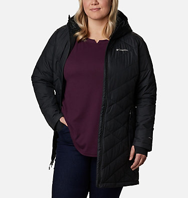 Women's Heavenly™ Long Hooded Jacket - Plus Size Heavenly™ Long Hdd Jacket | 671 | 1X, Black, front