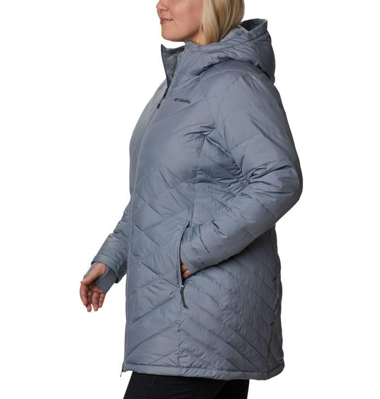 Heavenly™ Long Hdd Jacket | 032 | 3X Women's Heavenly™ Long Hooded Jacket - Plus Size, Tradewinds Grey, a1