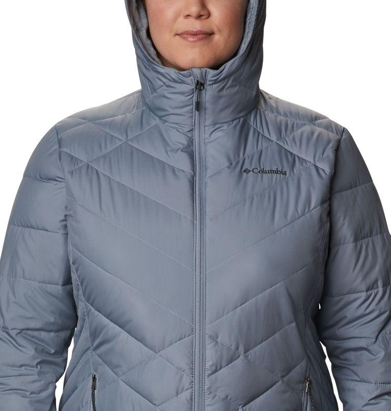 Heavenly™ Long Hdd Jacket | 032 | 3X Women's Heavenly™ Long Hooded Jacket - Plus Size, Tradewinds Grey, a2