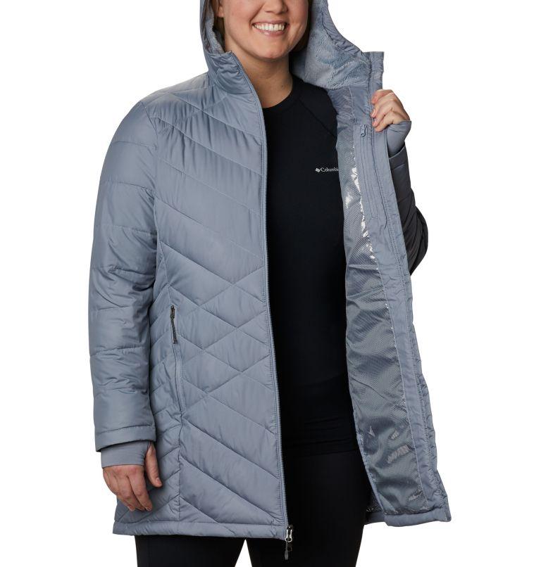 Heavenly™ Long Hdd Jacket | 032 | 3X Women's Heavenly™ Long Hooded Jacket - Plus Size, Tradewinds Grey, a3