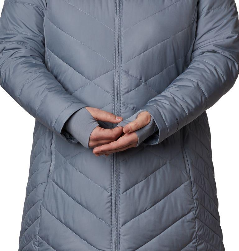 Heavenly™ Long Hdd Jacket | 032 | 2X Women's Heavenly™ Long Hooded Jacket - Plus Size, Tradewinds Grey, a4