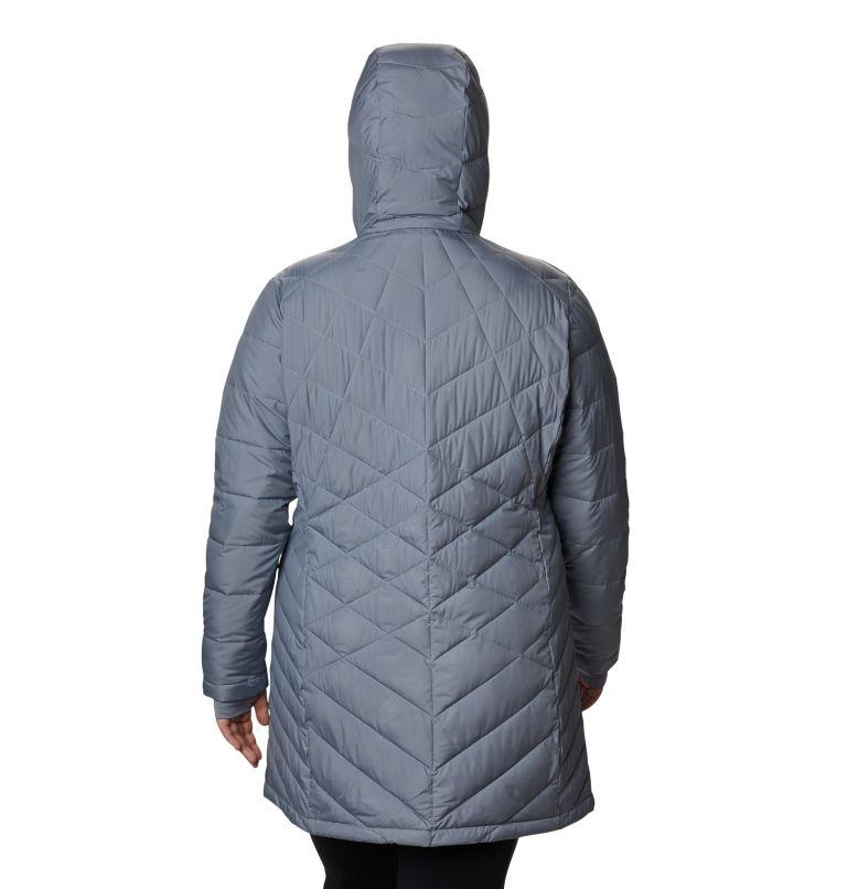 Heavenly™ Long Hdd Jacket | 032 | 3X Women's Heavenly™ Long Hooded Jacket - Plus Size, Tradewinds Grey, back