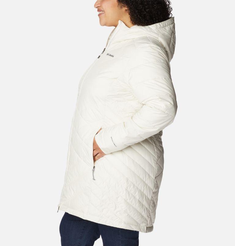 Heavenly™ Long Hdd Jacket | 191 | 2X Women's Heavenly™ Long Hooded Jacket - Plus Size, Chalk, a1