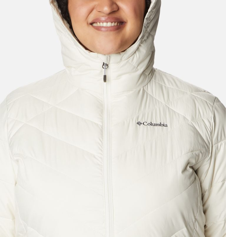 Heavenly™ Long Hdd Jacket | 191 | 2X Women's Heavenly™ Long Hooded Jacket - Plus Size, Chalk, a2