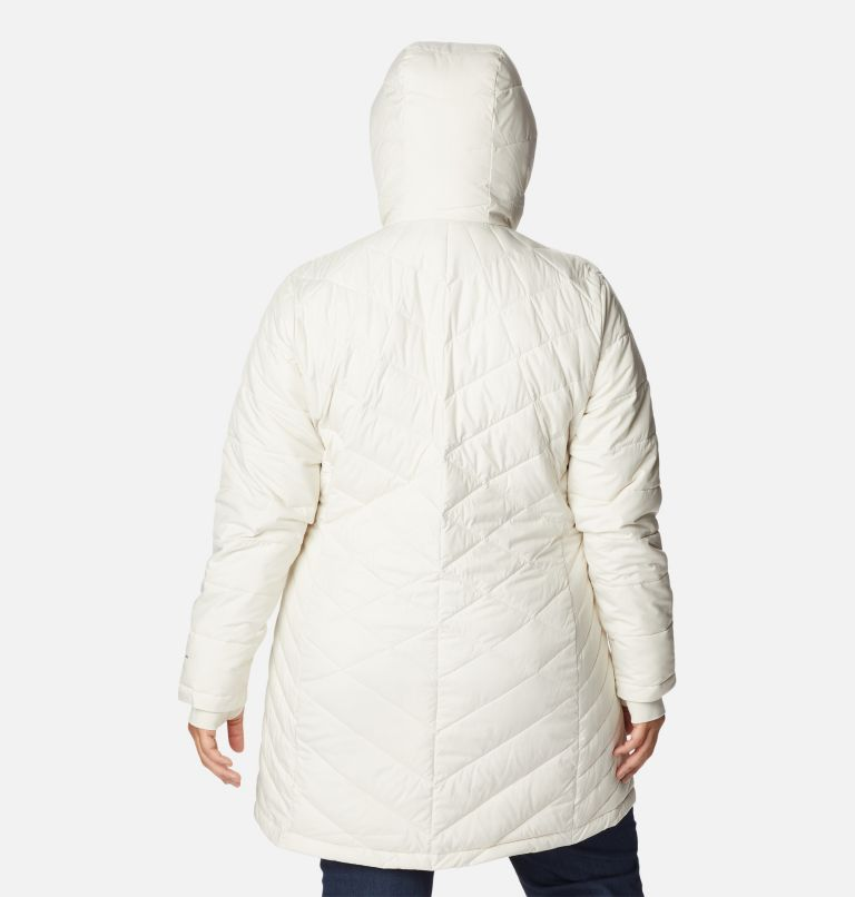Heavenly™ Long Hdd Jacket | 191 | 2X Women's Heavenly™ Long Hooded Jacket - Plus Size, Chalk, back