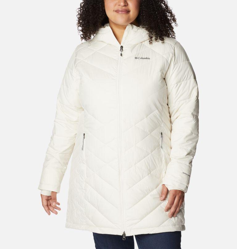 Heavenly™ Long Hdd Jacket | 191 | 2X Women's Heavenly™ Long Hooded Jacket - Plus Size, Chalk, front